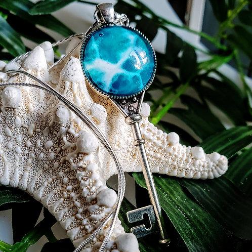 Heart Key Ocean Necklace
