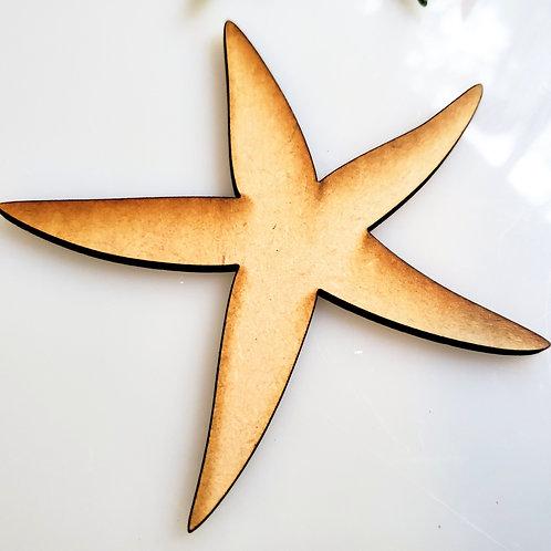 Starfish Unfinished MDF Laser Cutout