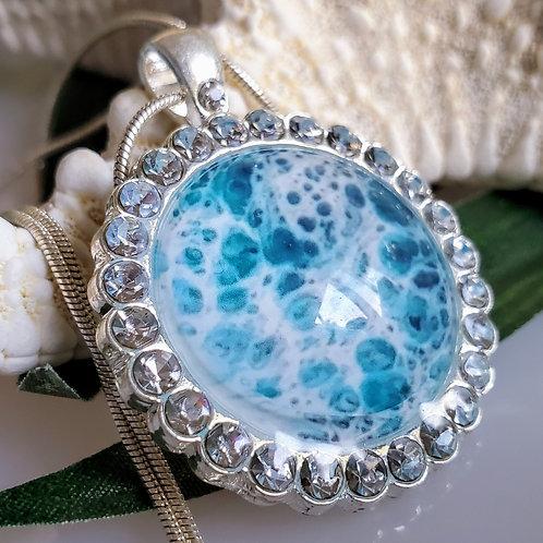 Silver Crystal Ocean Necklace