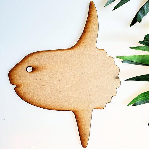 Sunfish- Mola Mola Unfinished MDF Laser Cutout