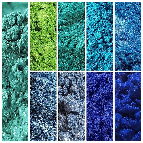 Ocean Favorites Mica Pigment Set of 9