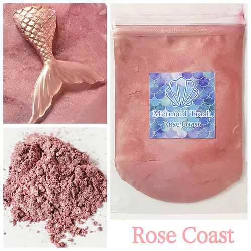 Rose colored mica pigment powder for epoxy resin
