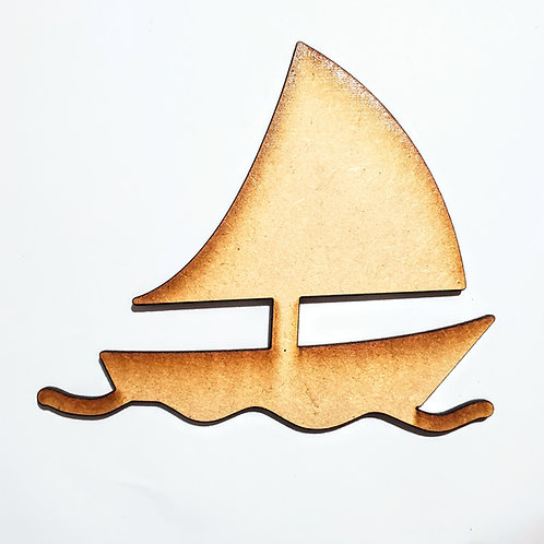 Sailboat #2 Unfinished MDF Laser Cutout