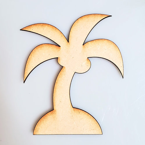 Coconut Palm Unfinished MDF Laser Cutout