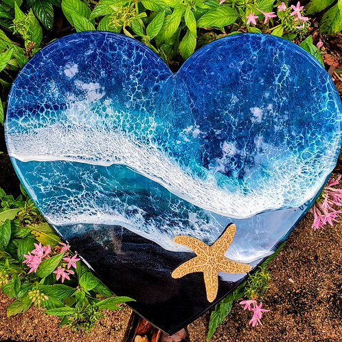 Heart Ocean with starfish