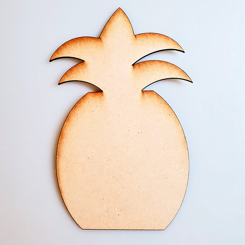Pineapple Unfinished MDF Laser Cutout