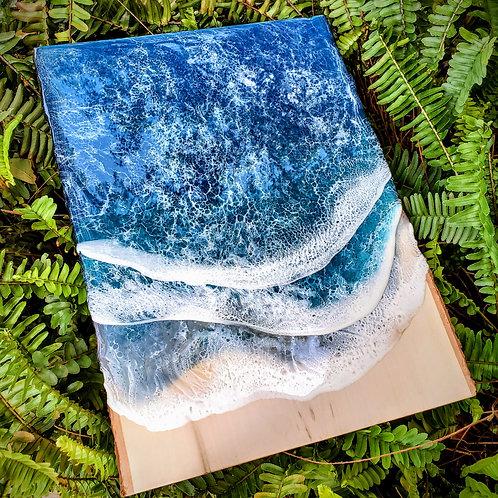 Live Edge Wood Slab Ocean 16x12