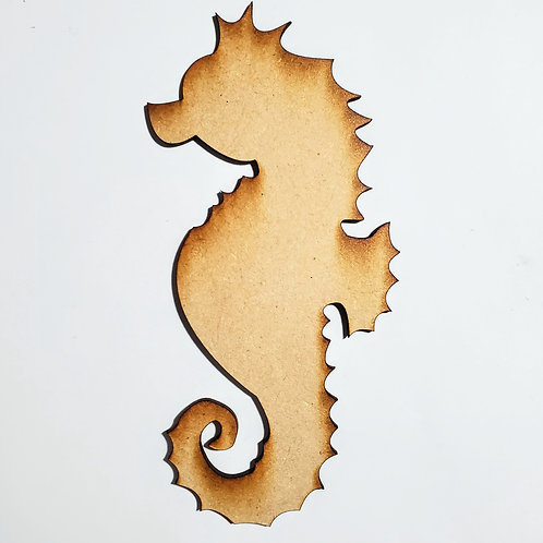 Seahorse Unfinished MDF Laser Cutout