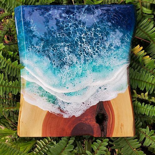 Live edge Cedar Ocean 12x13