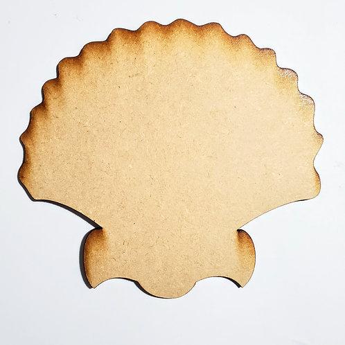 Seashell Unfinished MDF Laser Cutout