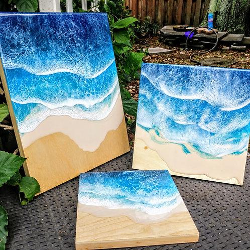 Maui wood panel 10x10
