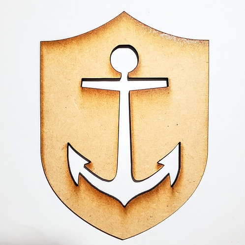Anchor Unfinished MDF Laser Cutout