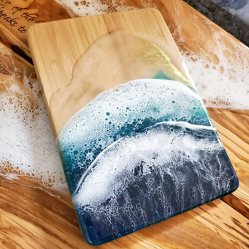 Bamboo Ocean wave cutting board