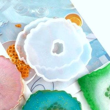 Agate Geode- Large Coaster Silicone Mold