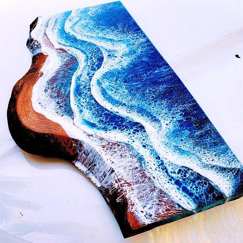 Black Walnut Live edge Ocean 20x8-11