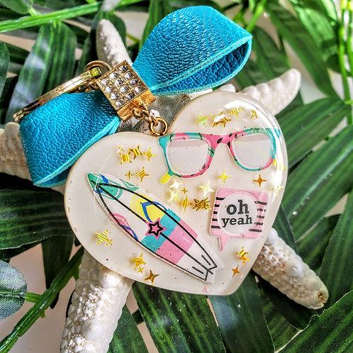 Bow tie heart keychain