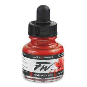 Flame Red- Daler-Rowney FW Acrylic ink