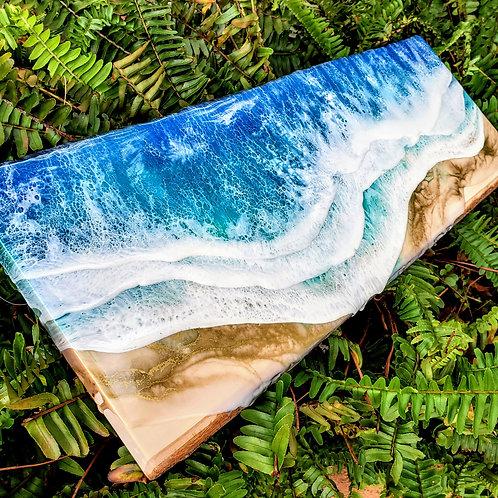 Live Edge Wood Slab Ocean 22x9.5