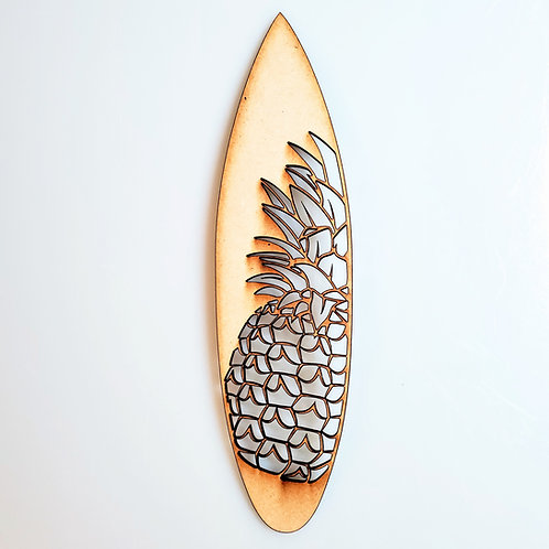 Pineapple Surfboard Unfinished MDF Laser Cutout