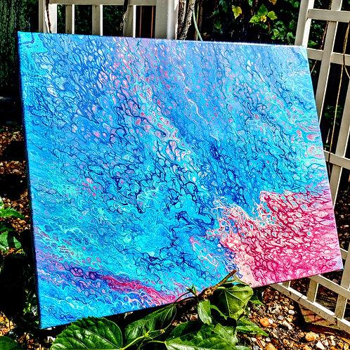'Red Tide' fluid artwork