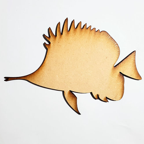 Butterfly Fish Unfinished MDF Laser Cutout
