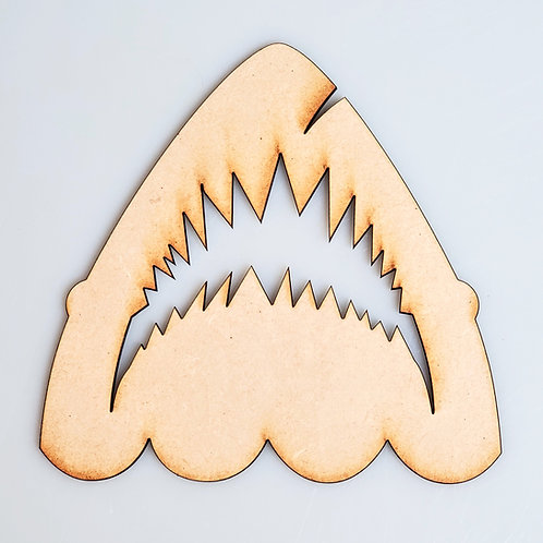 Jaws Shark Unfinished MDF Laser Cutout