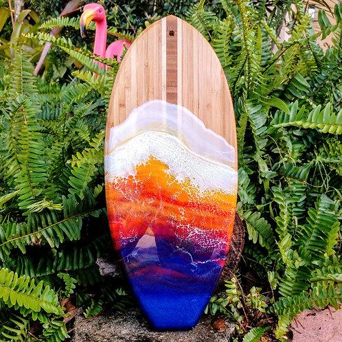 Bamboo surfboard cutting board