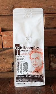 Machiavelli- Cupping Notes: hazelnut, honey, cocoa, dark cherry wood, plum