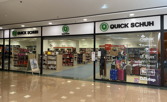 See our stores QUICK SCHUH - SHOES and DĚTSKÁ OBUV.