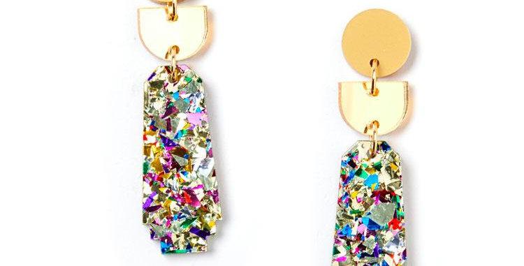 Dynasty Earrings - Gold / Confetti