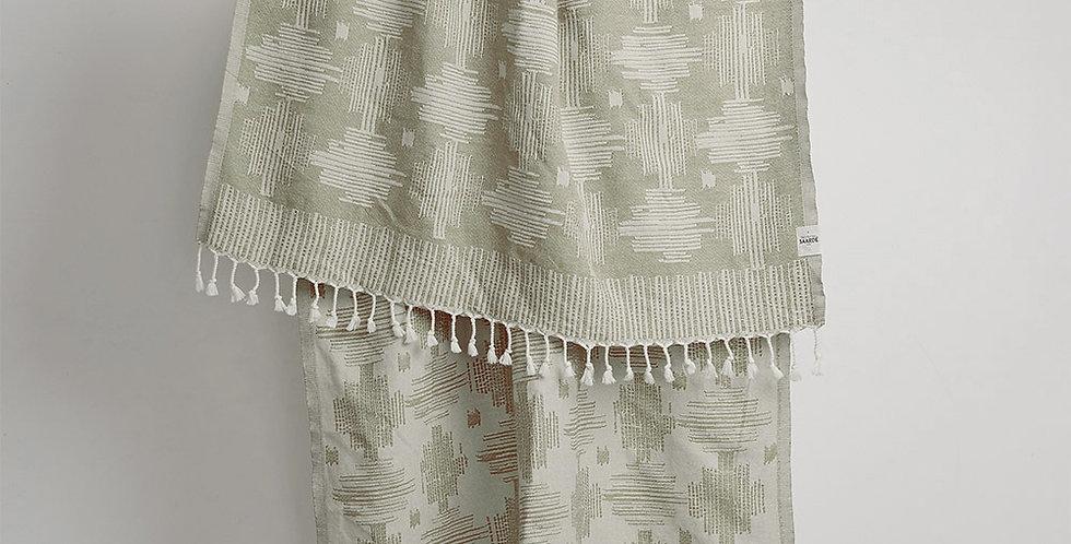 Papatya Cotton Beach Towel -Olive