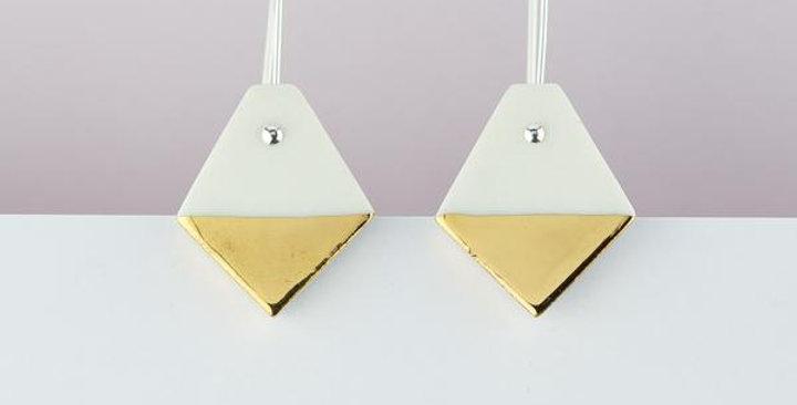 Diamond Earrings - White