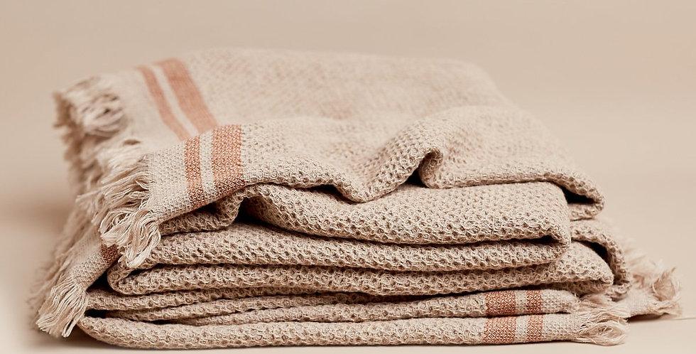 Nurture 100% Cotton Throw- Oatmeal Marle