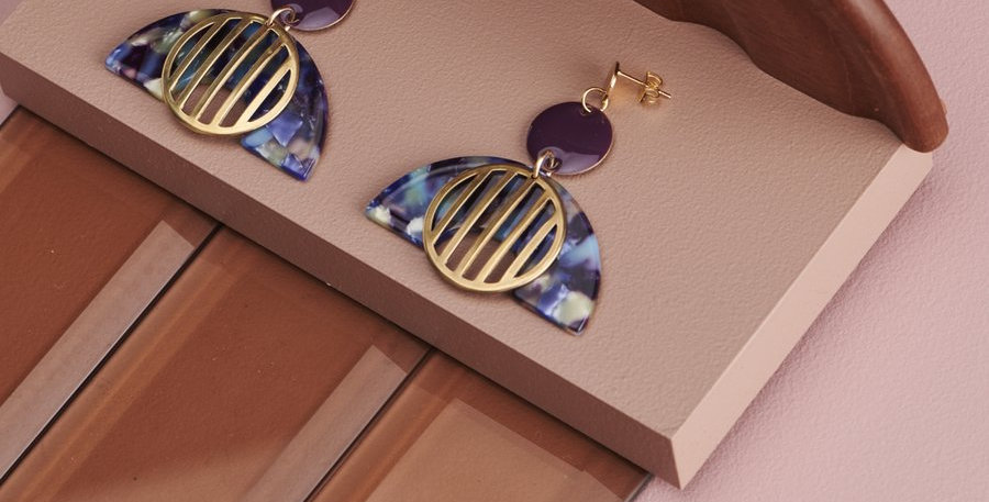 Royce Earrings - Indigo