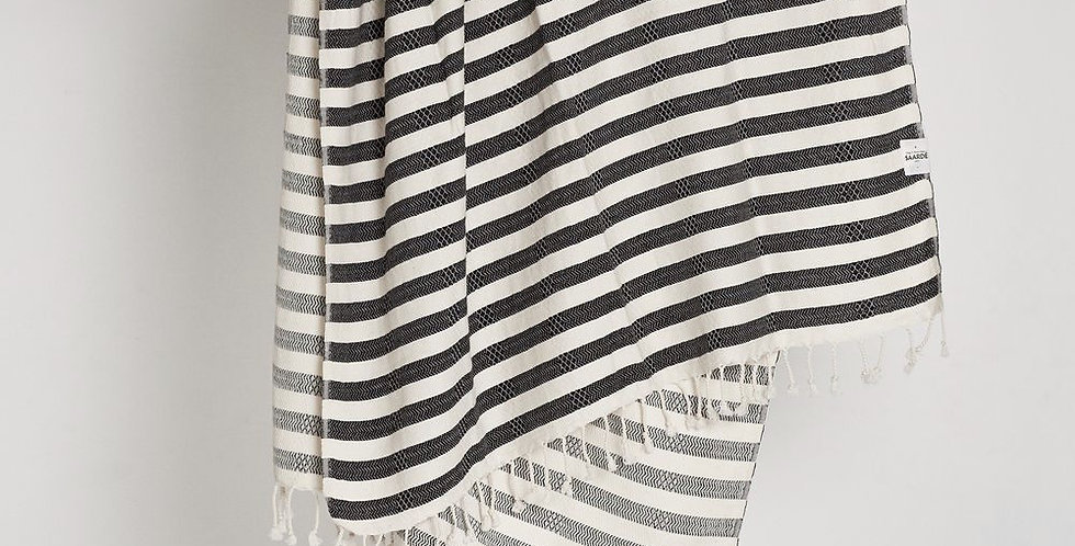 Tribal Candy Stripes Towel - Black