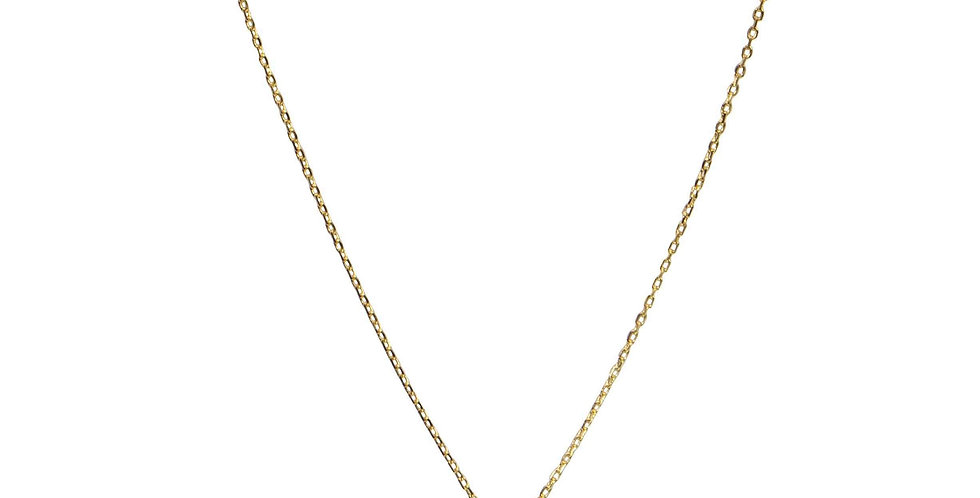 Star Crystal Necklace- Gold