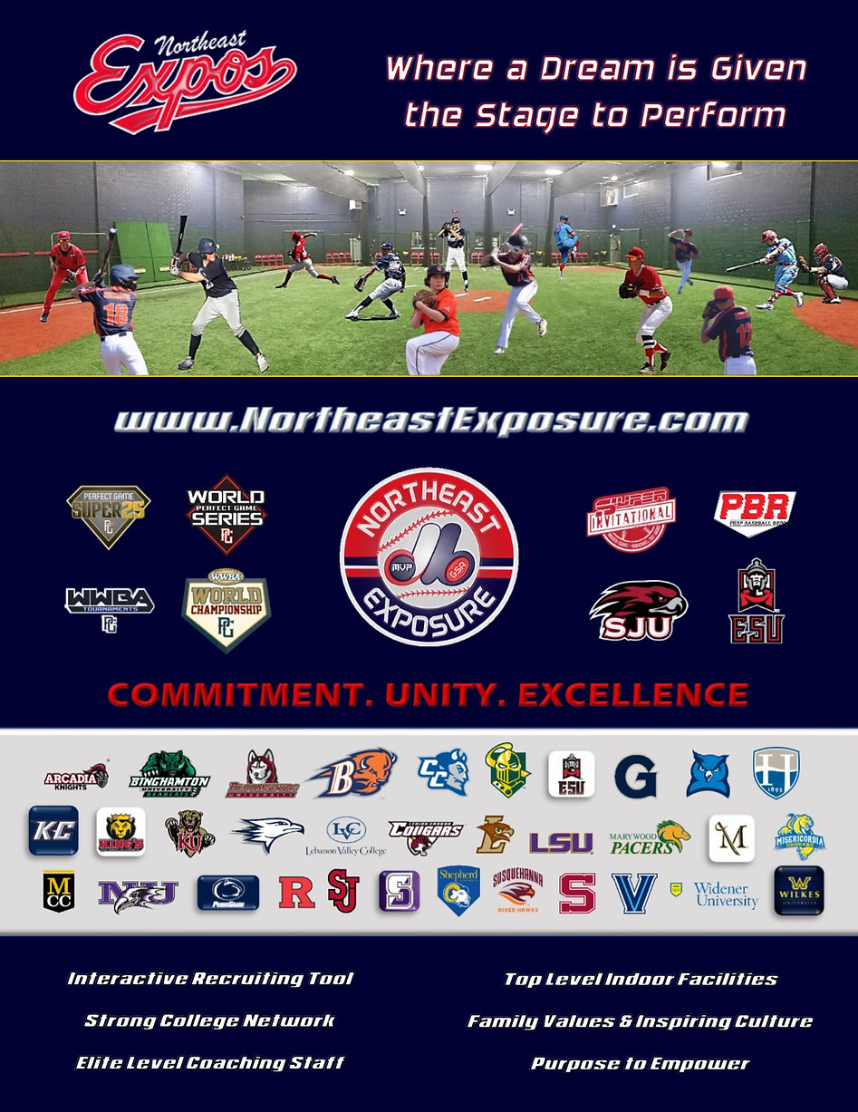 Northeast Exposure 2020 Baseball Program Brochure