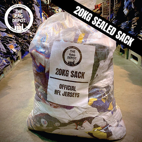 Vintage Official NFL Jerseys (20 KG SEALED SACK)