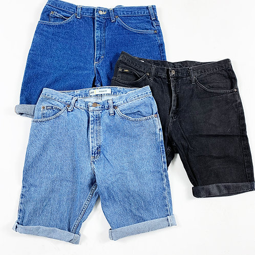 10 x Vintage Men's Lee Denim Shorts Mix (Grade A)