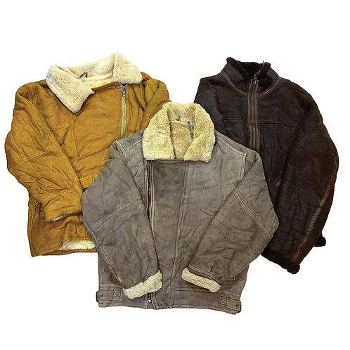 10 x Vintage Men's Leather Flight Jackets