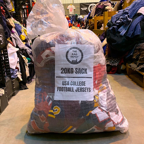Vintage College American Football Jersey Mix (20 KG SEALED SACK)