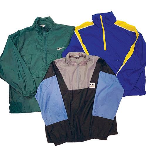 10 x Vintage Branded 1/4 Zip Windbreaker Jacket