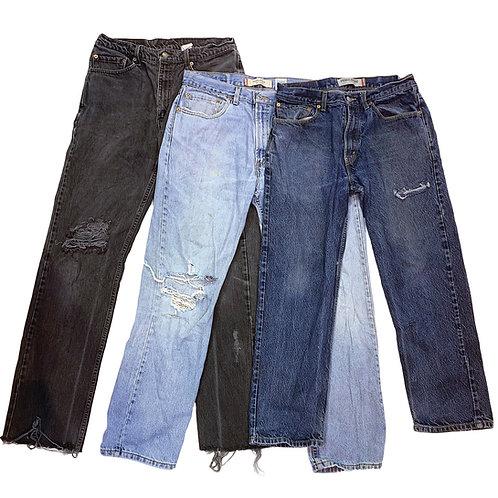 10 x Vintage Men's Levi's Distressed Grunge Jeans