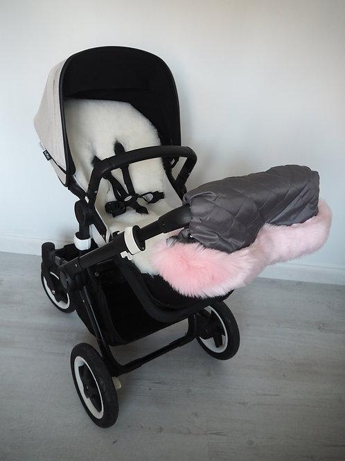 Extra Fluffy Pink Fur Pram Handmuff