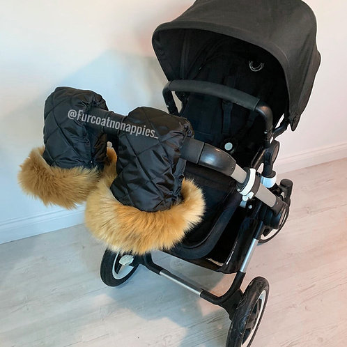 Extra Fluffy Tan Single Pram Handmuffs