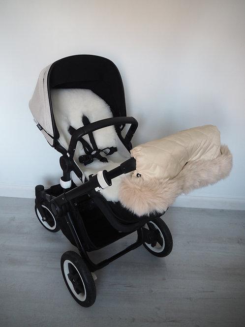 Extra Fluffy Beige Fur Pram Handmuff