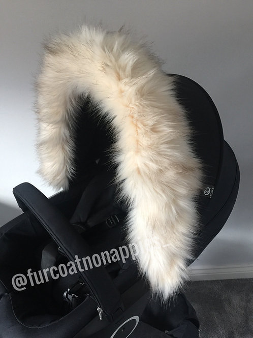 Teddy Hood Fur Pram Hood Trim