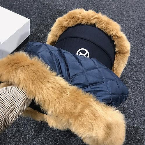 Extra Fluffy Tan Pram Fur Handmuff