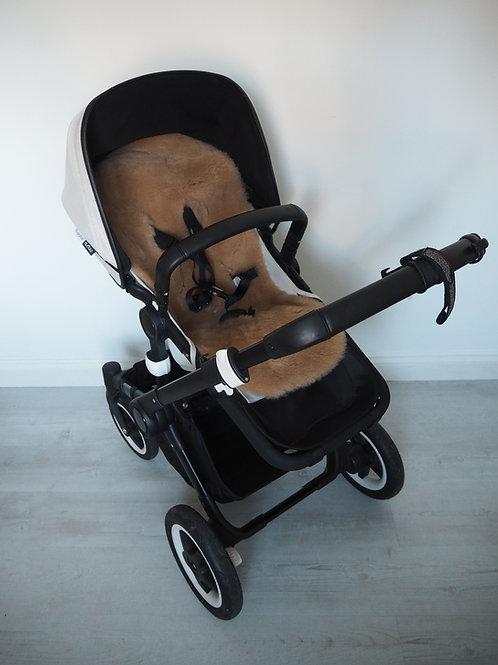 Caramel Universal Sheepskin Pram Seat/ Carrycot Liner, Shorn