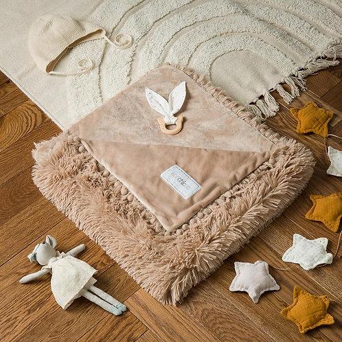 Biscotti Beige Fluffy Baby Pram Blanket
